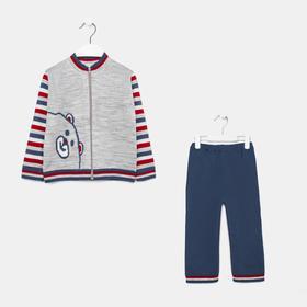 Комплект (джемпер, штаны) для мальчика, цвет серый, рост 80 см