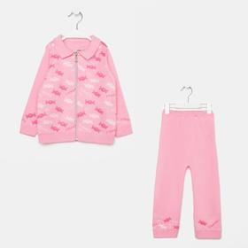 Комплект (джемпер, штаны) для девочки, цвет розовый, рост 80 см