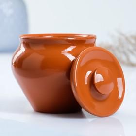 """Набор """"Вятская керамика Трио"""" 0,5лх3шт + ухват, терракота"""
