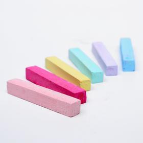 Набор мелков для волос с блёстками, 6 шт. Цвета: голубой, красный, желтый, розовый, светло-зеленый, фиолетовый