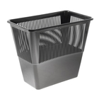Корзина для бумаг 12 литров, прямоугольная, чёрная, высота 300 мм