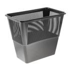 Корзина для бумаг 12 литров, прямоугольная, черная, высота 300 мм