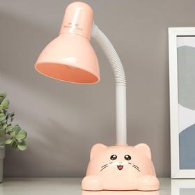 Лампа настольная 58072/1PK E27 40Вт розовый 14х13,5х42см