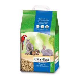 Наполнитель древесный впитывающий Cat's Best Universal, 10 л, 5,5 кг