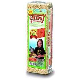 Наполнитель древесный ароматизированный Chipsi Strawberry для грызунов,  клубника, 1 кг