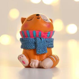 Фигурка «Котик с шарфом»