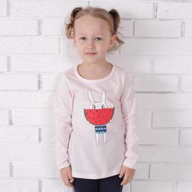 Лонгслив для девочки, цвет светло-розовый, рост 122 см