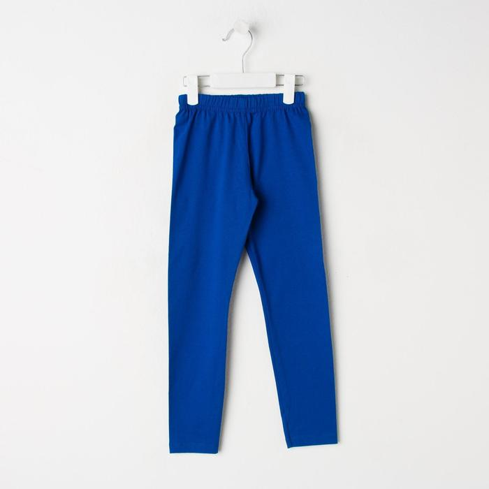 Брюки для девочки, цвет синий, рост 92 см - фото 105572207