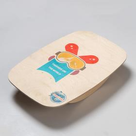 "Доска балансировочная балансборд малая ""Freeride on the world"",  50×33 см"