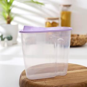 Ёмкость для сыпучих продуктов, 1,5 л, цвет МИКС