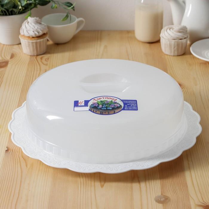 Тортница, цвет белый - фото 493633