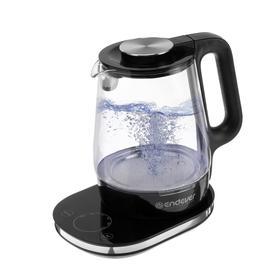 Чайник электрический Endever Skyline KR-334G, стекло, 1.7 л, 1800 Вт, регулировка t°, серебр. 514858
