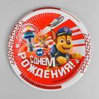 Тарелка бумажная «Щенячий Патруль, С днём рождения!», набор 6 шт., 23 см - фото 7401854