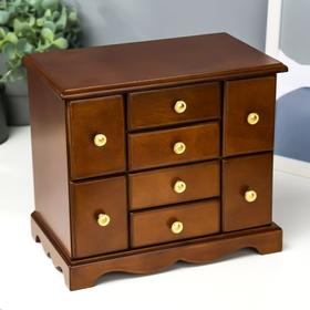 """Box wood """"Cabinet 8 drawers"""" brown 25,3х15,5х22 cm"""
