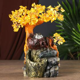 """The fountain table from the network """"Tree with amber leaves"""" 312 stones 34х26х13 cm"""