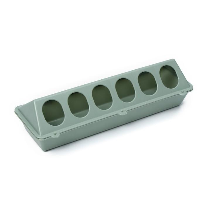 Кормушка-поилка для перепелов, 12 ячеек, лотковая, пластик