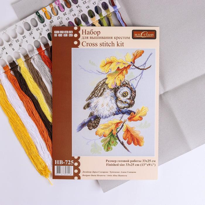Набор для вышивания «Совиный взгляд» 33×25 см - фото 693508