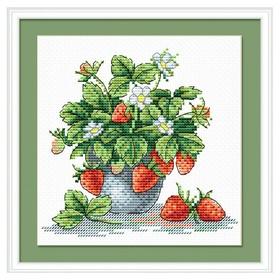 Набор для вышивания «Аппетитная клубника» 15×18 см