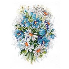 Набор для вышивания «Луговые цветы» 18×15 см