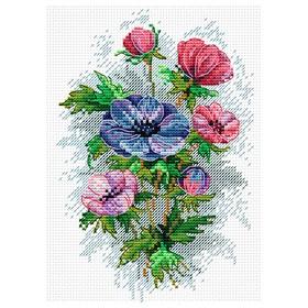 Набор для вышивания «Цветы осени» 18×15 см