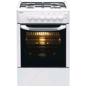 Плита Beko FFSS 62010 GW, газовая, 4 конфорки, 71 л, эмаль, белая