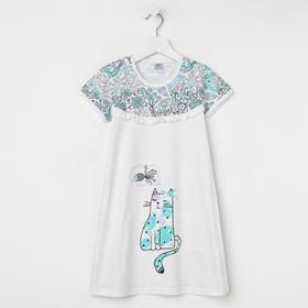 Сорочка для девочки, цвет бежевый, рост 104 см