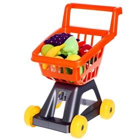 Тележка для супермаркета с фруктами и овощами, цвета МИКС