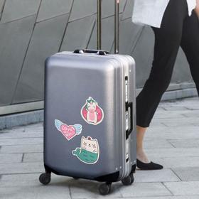 Набор для чемодана «Улетаю от проблем», 2 предмета: бирка, наклейки 10 шт - фото 4638372
