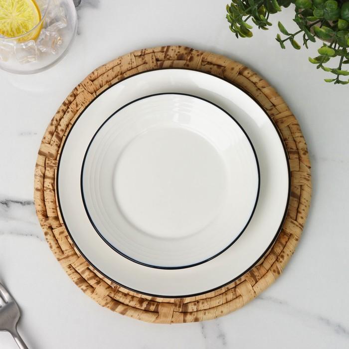 Салфетка плетёная Доляна «Песок», d=25 см - фото 493704