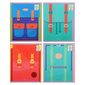 """Тетрадь 48 листов в клетку """"Стильные рюкзаки"""", обложка мелованный картон, матовая ламинация, блок офсет"""