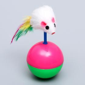 """Игрушка-неваляшка """"Мышь на шаре"""", шар 5,5 см, микс цветов - быстрая доставка"""
