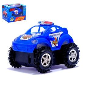 """Машина-перевёртыш """"Полиция"""", работает от батареек, цвета МИКС"""