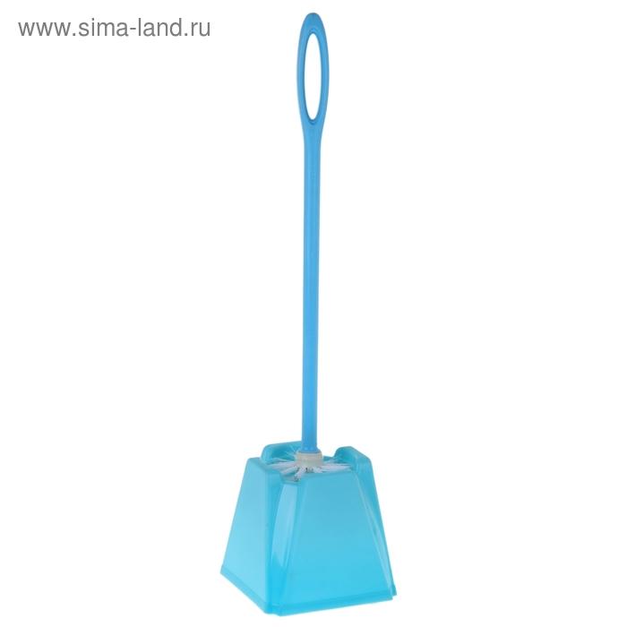 Ершик для унитаза с подставкой, 49 см, цвета МИКС