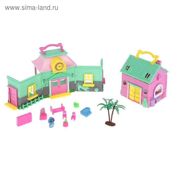 Дом для куклы, с аксессуарами, МИКС