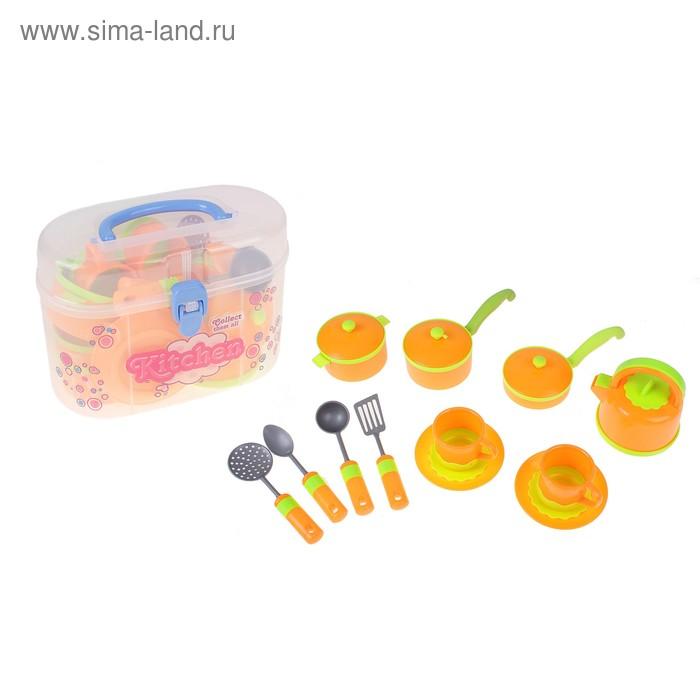"""Набор посуды """"Оранжевое настроение"""", 12 предметов, в чемодане"""