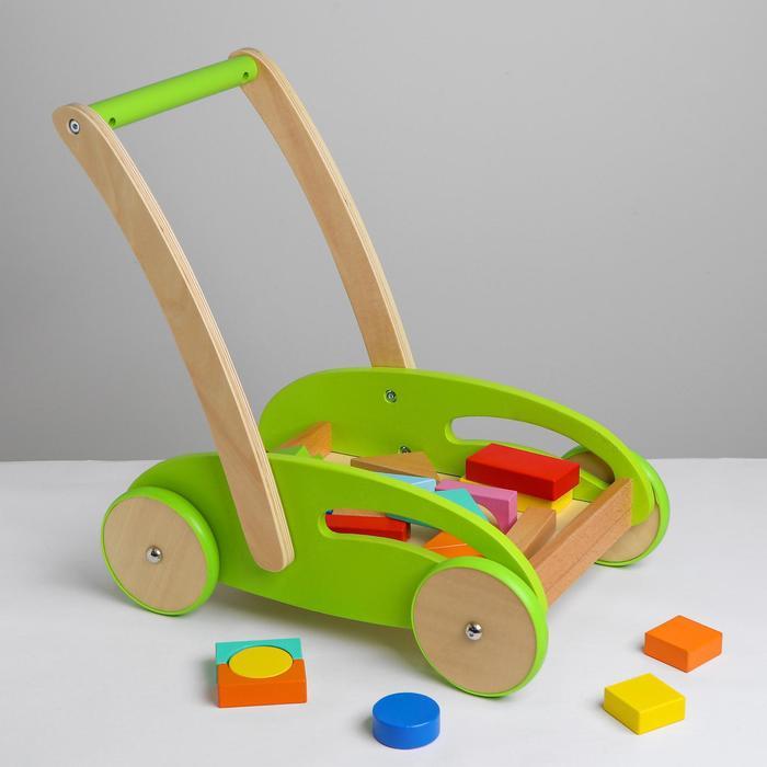 Логический центр на колёсах с конструктором 44,5×41,5×28 см - фото 76411388