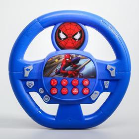 """Музыкальный руль """"Человек-паук"""", звук, работает от батареек, MARVEL"""