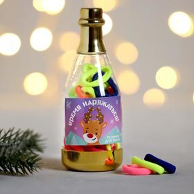 Резинки новогодние в банке  «Пора наряжаться», микс 10,5 х 3,8 см