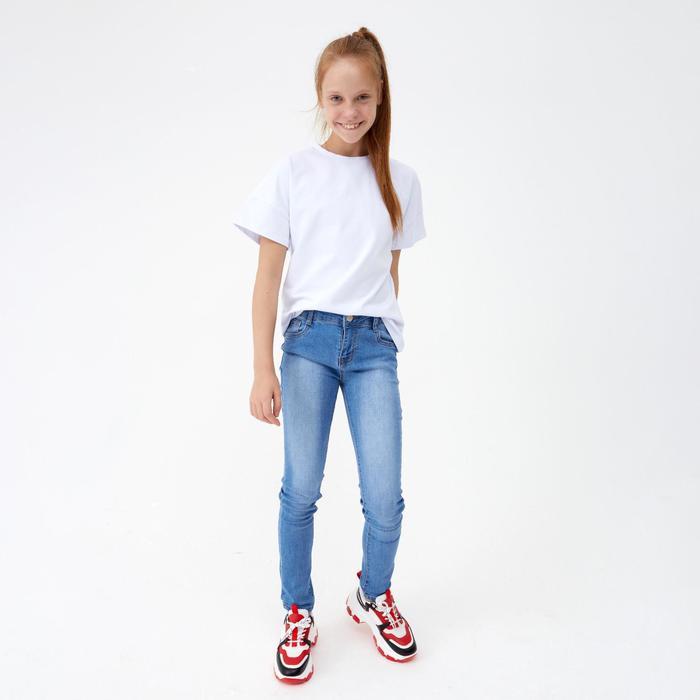 Джинсы для девочки, цвет синий, рост 152 см - фото 105571133