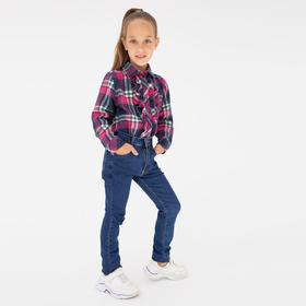 Джинсы для девочки, цвет синий, рост 122 см