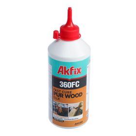 Клей Akfix 360 FC, быстросхватывающий, для дерева, светло-коричневый, 560 г