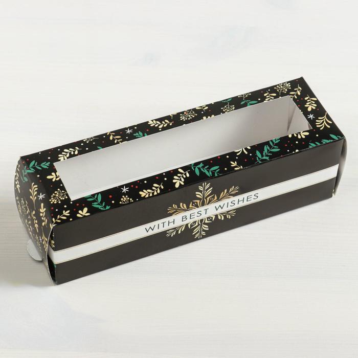 Коробка складная «Снежинка» 18 х 5,5 х 5,5 см.