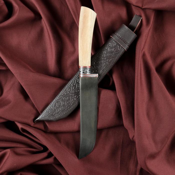 Нож Пчак Шархон - Дерево, средний (гарда гравировка) - фото 788657