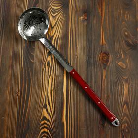 Шумовка для казана узбекская 60см, глубокая, с деревянной ручкой