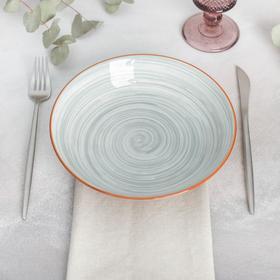 "Deep dish ""the Temptation"" 20,5x4,5 cm, color grey"