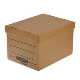 """Короб архивный Bankers Box """"Basic"""" 335x445x270 мм, гофрокартон"""