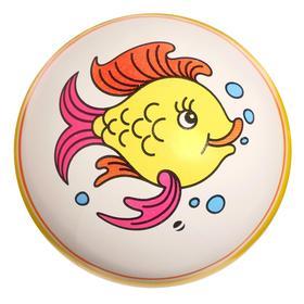 Мяч диаметр 100 мм, (рисунок), цвета МИКС
