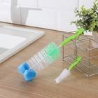 Набор ершиков для посуды с губкой, 2 шт: 3x13 см, 6x24 см, цвета МИКС