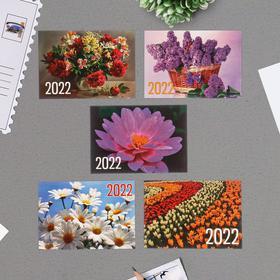 """Карманный календарь """"Цветы - 2"""" 2022 год, 7 х 10 см, МИКС"""