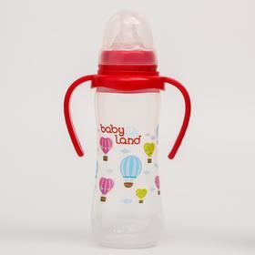 Бутылочка для кормления с ручками, 240 мл., от 6 мес., классическая, с клапаном, цвет МИКС